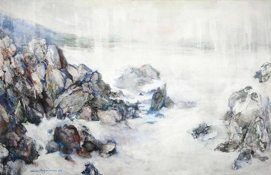 Mixed media on canvas, 100x150cm, 2014