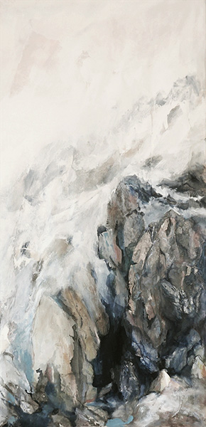 Mixed media on canvas, 100x50cm, 2014