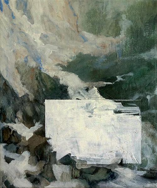 Mixed media on canvas, 30x25cm, 2014
