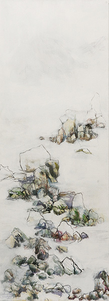 Mixed media on canvas, 90x33cm, 2015