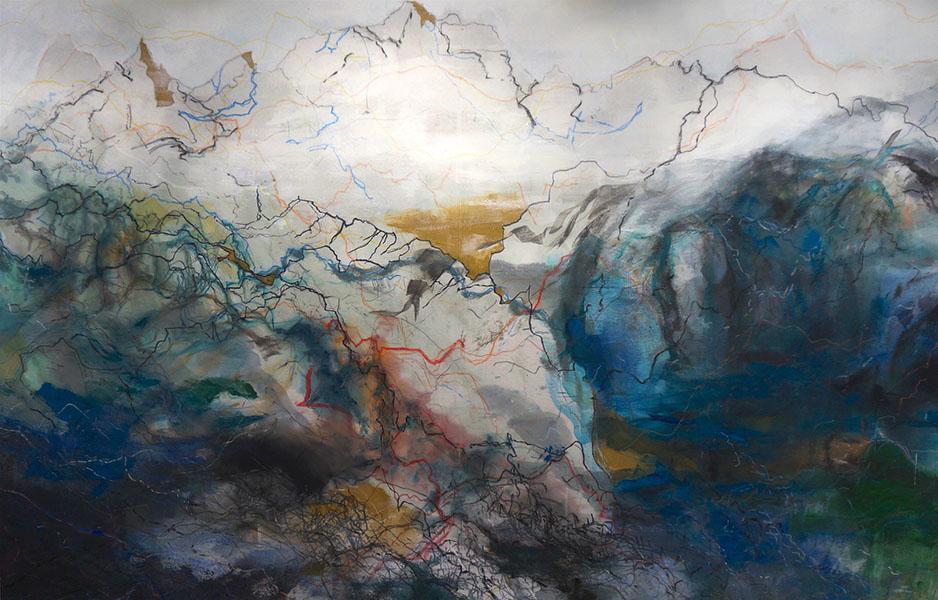 Mixed media on canvas, 178x273 cm, 2016