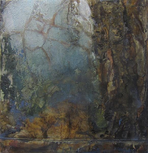 Mixed media on canvas, 21x21cm, 2016