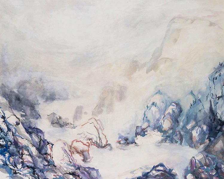 Mixed media on canvas, 80x100cm, 2014