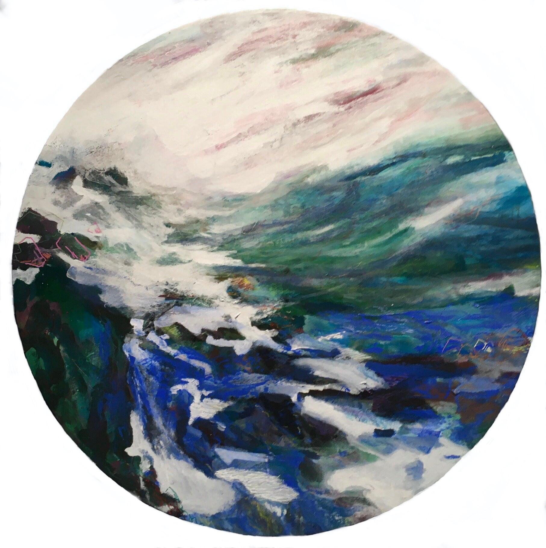 Acrylics on canvas, O/ 90cm, 2020